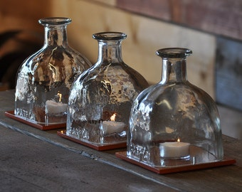 Patron Bottle Hurricane Lamp - Table Centerpiece