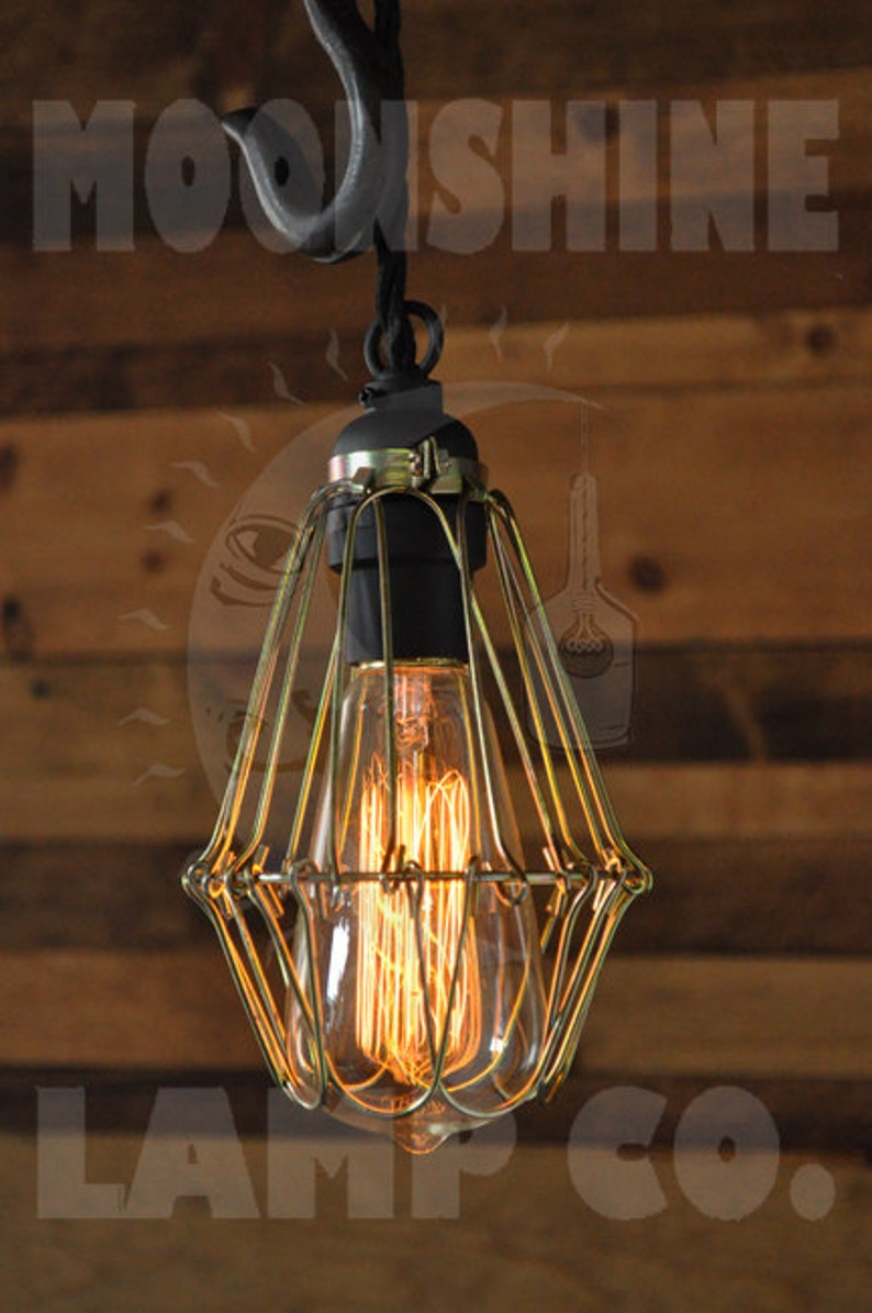 Pulley Pendant Lamp The Cannery Hanging Light Fixture Etsy