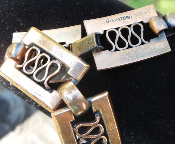 Vintage Renoir Copper Necklace Athena