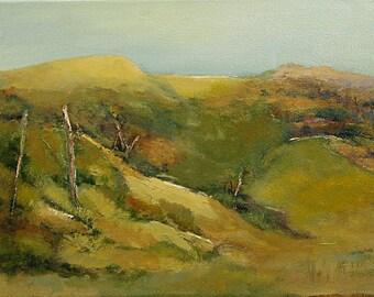 "California Landscape painting original oi 12""x16"" canvas Jan Smiley"
