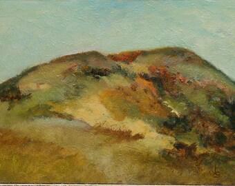 "Landscape California hills 9""x12"" oil painting on hardboard Jan Smiley"