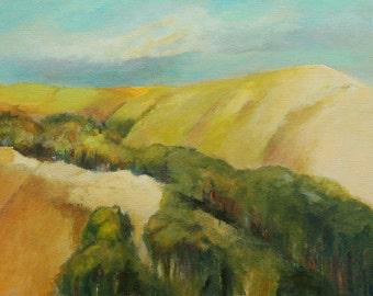 "Original oil painting California landscape 12""x16"" canvas Jan Smiley"