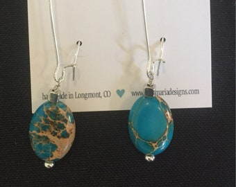 Howlite Drop kidney earrings