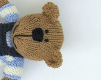 Baby toy teddy bear personalized gift or toddler toy, first birthday gift, Christmas present.