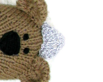 Hand knit teddy bear princess doll knitted toy.  Stuffed doll personalized gift for girls.