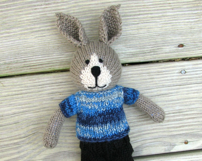 Easter bunny knit doll boy toy Plush bunny gift for kids.