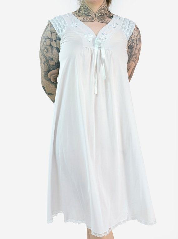 Lace & Floral Detail Slip Dress - image 1
