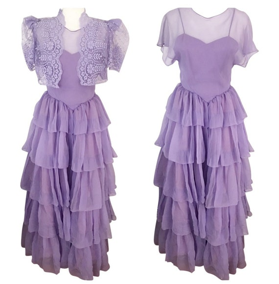 Vintage Lavender Couture Dress