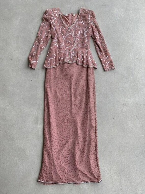 Embellished Pink Maxi Dress