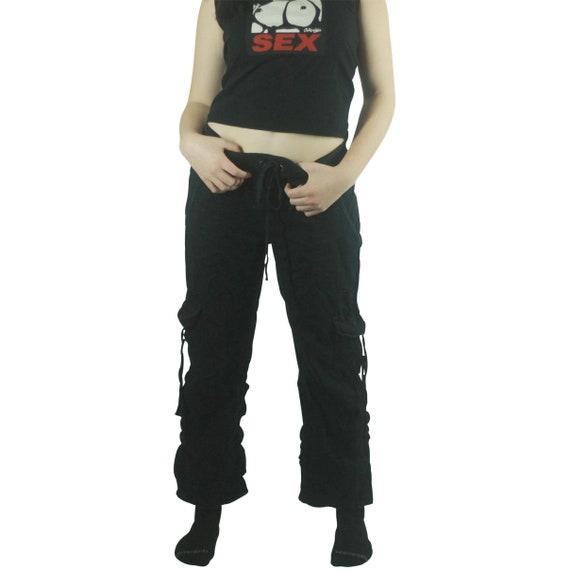 90's Black Cargo Pants - Small