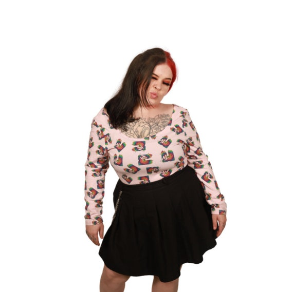 Vintage Pink Music TV Bodysuit - image 2