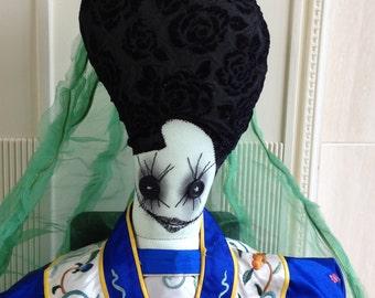 Stuffed Art Doll Alice and Wonderland Zombie Medieval