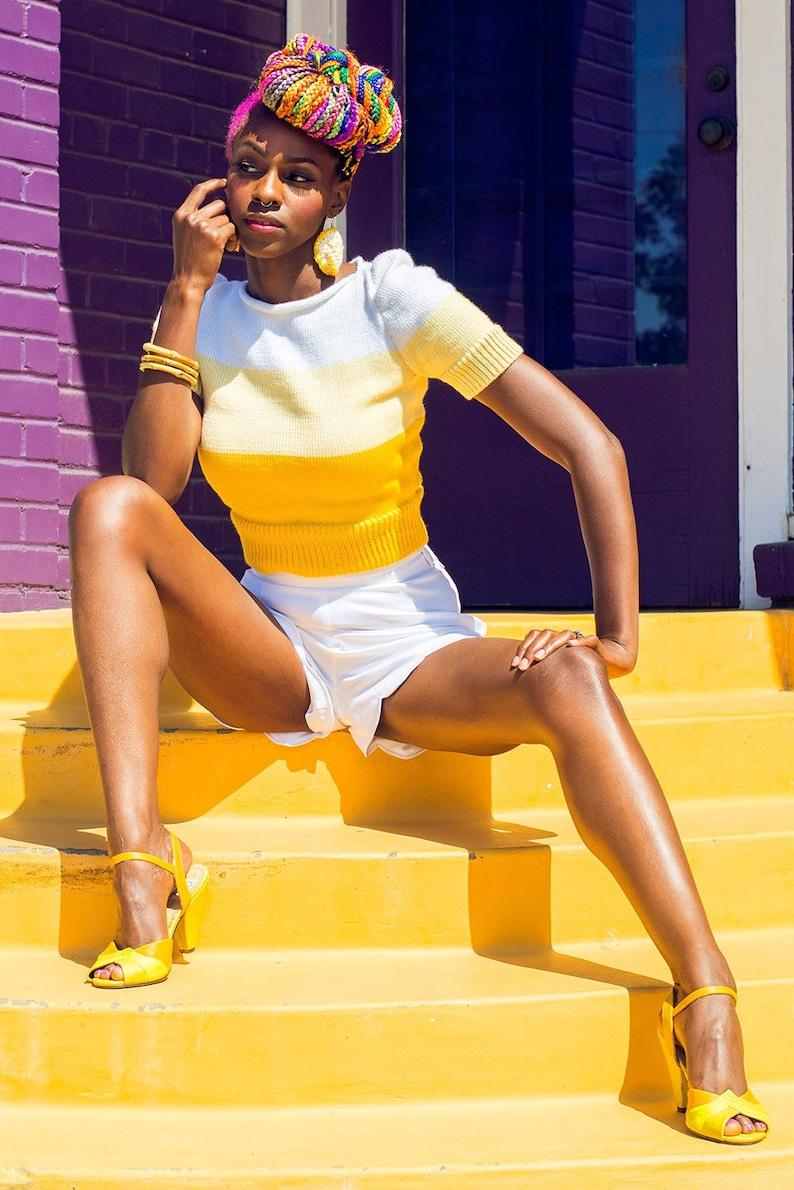 50s Shirts & Tops Lemonade Sweater $85.00 AT vintagedancer.com