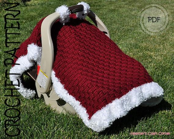 Crochet Pattern Santa Baby Car Seat Canopy Blanket Us Uk Etsy
