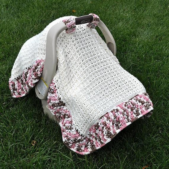 Crochet Pattern 1306 Waffle Stitch Car Seat Canopy Blanket Etsy