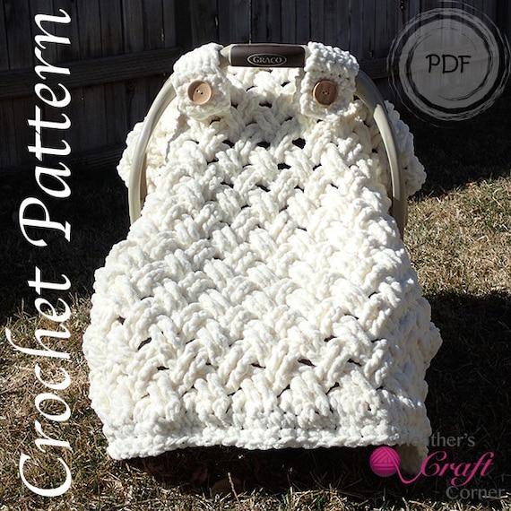 Crochet Pattern Chunky Celtic Weave Car Seat Canopy Photo Etsy