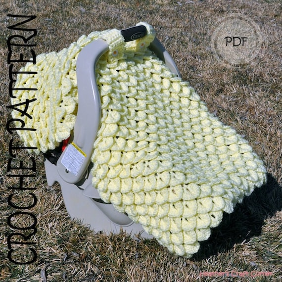 Crochet Pattern Crocodile Stitch Car Seat Canopy Blanket Etsy