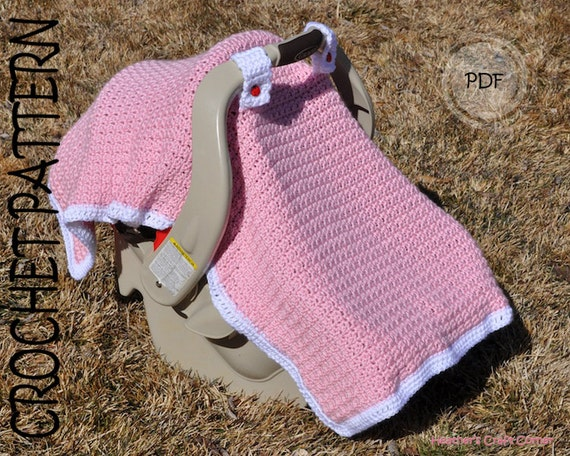 Crochet Pattern Baby Licious Car Seat Canopy Blanket Etsy