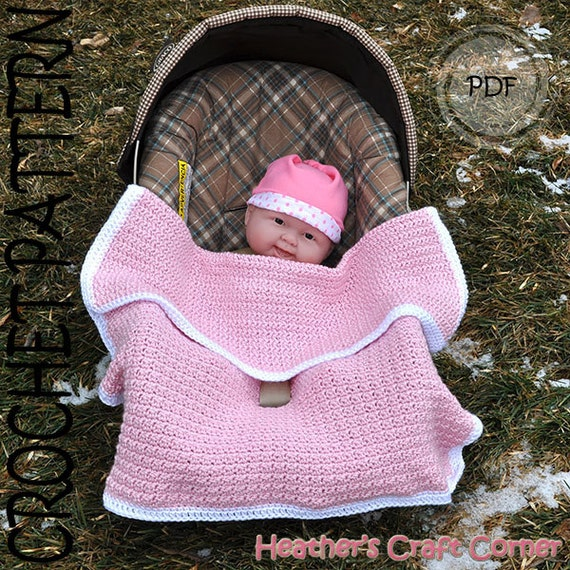 Crochet Pattern  Baby-licious Car Seat / Stroller Blanket US