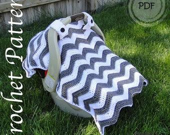 Crochet Pattern - Chevron Car Seat Canopy