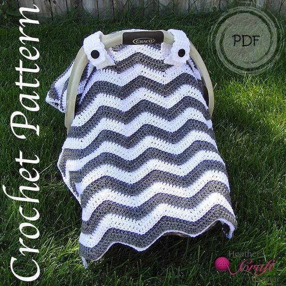 Crochet Pattern Chevron Car Seat Canopy Etsy