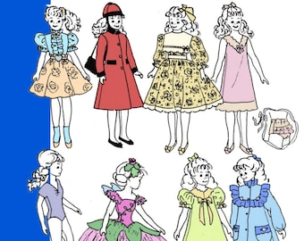 "Fits Barbie /& Ken Dolls 4938 Doll Wardrobe Pattern  11-1//2/"" Mail Order Newspaper"