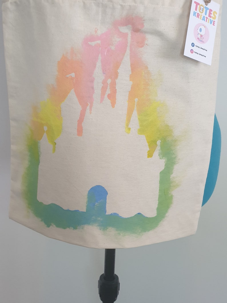 Disney Rainbow Castle Tote Bag