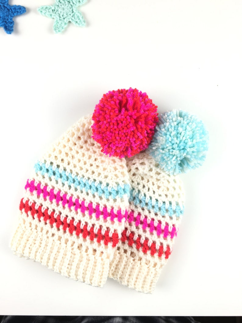 335d24fe202 Crochet Bobble Hat Pattern Instant Download Betsy Bobble Hat