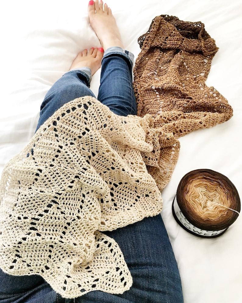 Crochet Scarf Pattern Instant Download  Liula pdf file image 0