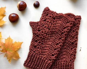 Crochet Fingerless Gloves Pattern +Instant Download+  Conker Mitts (pdf file)