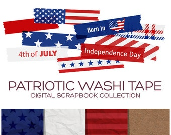 4th of july clipart washi tape clipart patriotic clipart fourth of july printables independence day memorial day printable usa art c00022