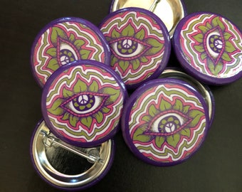 Psychedelic Eye button