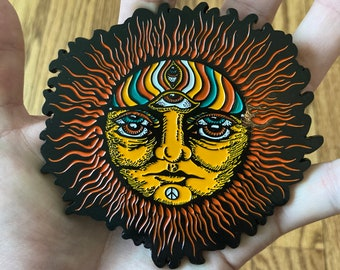 Newborn Sun MAIN EDITION soft enamel pin