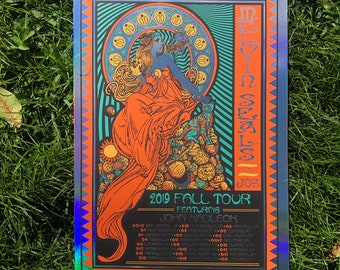 Melvin Seals and JGB FOIL VARIANT 2019 Fall Tour poster