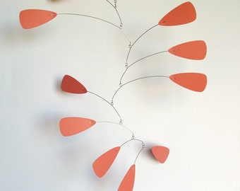 Coral kinetic mobile, Handpainted Hanging mobile, Art for home, decor with movement