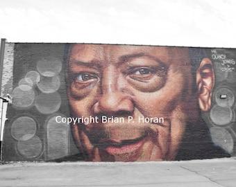 Chicago Mural -Quincy Jones 20x30 print