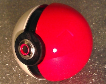 Lithium Polymer Pokemon Ball - Integrated LEDs and Rechargeable Battery