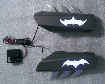 Batman Gauntlets with Flat Panel Light Effects