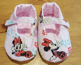 Minnie Mouse Mary Jane baby shoes Boodies soft sole shoes slippers