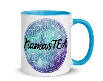 NamasTEA Mug with Color Inside - Blue