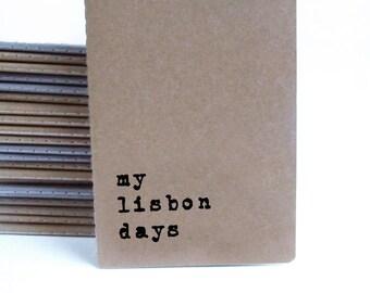 Lisbon diary notebook; Lisbon book; Lisbon souvenir; Lisboa; Portugal; Lisbon gifts; Portuguese design;