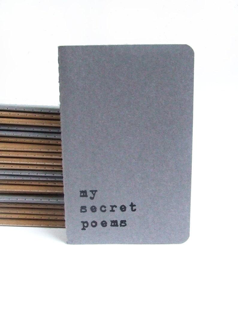 MOLESKINE® 'MySecret Poem's' hand screen printed image 0