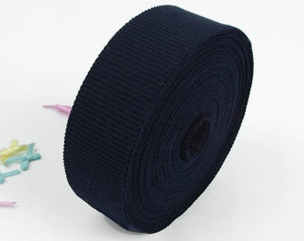 4cm Navy Cotton Rib Knit Large Roll Bias - 15 Yards by the Roll - 93855