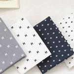 Fat Quarters Bundle Cotton Fabric, Cross Cotton Fabric, Lightning Bolt Fabric - Set of 4