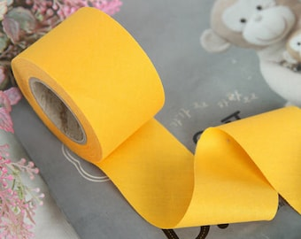 4 cm New Solid Series Cotton Bias - Spectra Yellow - 10 Yard roll - 81442-024