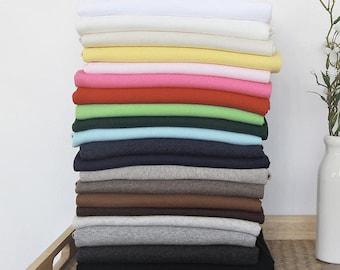 Ribbing Cotton Rib Knit Fabric - in 18 Colors  - 15 Inch Cut
