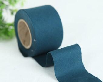 4 cm New Solid Series Cotton Bias - Majolica Blue- 10 Yard roll - 81443-050