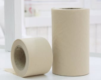 Solid Beige Cotton Bias - 4 cm or 10 cm widths - 10 yards - By the Roll - 81593