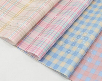 Laminated Cotton Fabric Pink Stripes By the Yard 84069