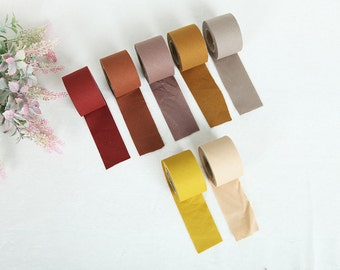 4 cm New Solid Series Cotton Bias - Harvest Tones - 10 Yards - By the Roll - 81445